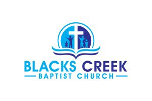 Blacks Creek Baptist Church logo in blues